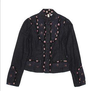 Ted Baker Jean black floral polka dot jacket sz1/4